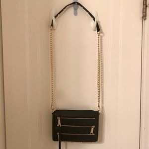 Rebecca Minkoff Bags - Rebecca minkoff Black crossbody with gold zippers